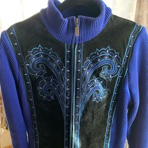 BOB MACKIE leather and knit jacket size L